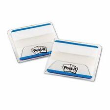 Post It Durable File Tabs 2 X 1 12 Striped Blue 50pack Mmm686f50bl