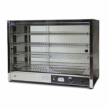 NEW COMMERCIAL PIE FOOD WARMER DISPLAY CABINET 304 SATINLESS STEEL