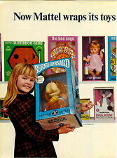 1966 ADVERT 2 PG Mattel Dolls Toys Baby Secret Teenietalk Bugs Bunny