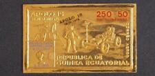 EQUATORIAL GUINEA 1972 SPACE XF ImPerf MNH ** OVP GOLD in Numb Booklet Apollo 16