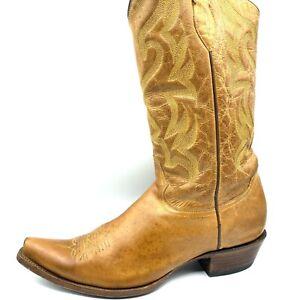 Corral Cowboy Boots Mens 11D Tan Great Patina