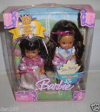 #6975 NIB Mattel Fantasy Tales Kelly Tea Party Princesses African American Dolls