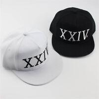 Unisex Black White XXIV Hat 24k M agic Logo Embroidery Bruno Mars Baseball Cap