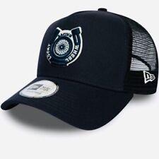 NEW ERA LUCKY WHEEL RACING NAVY A-FRAME TRUCKER BASEBALL CAP/SNAPBACK HAT