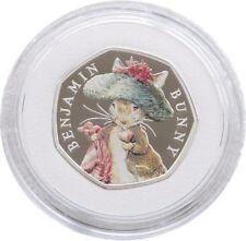2017 Royal Mint Benjamin Bunny 50p Fifty Pence Silver Proof Coin Box Coa