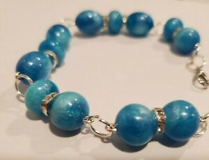 Handmade Beaded Bracelet with Handcrafted Resin Beads by Artist Jared D. 6/21 #7