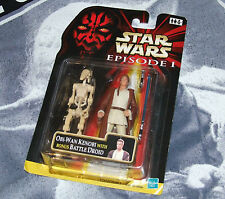 Star Wars Episode 1 Obi Wan Kenobi with Bonus Battle Droid
