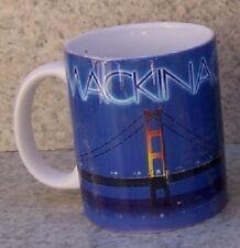 Coffee Mug Explore America Michigan Mackinac Bridge NEW 11 ounce cup w gift box