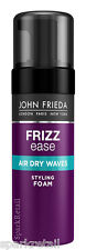 John Frieda Frizz Ease AIR DRY WAVES Soft Wave Styling Foam 150ml Wavy/Curly