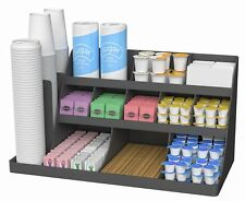 Mind Reader 14 Compartment 3 Tier Large Breakroom Coffee Condiment Organizer,