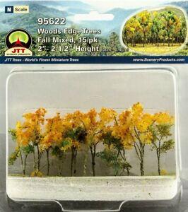 """JTT (HO-N Scale) 95622 - Woods Edge Trees - FALL MIX  2"""" - 2-1/2"""" Tall - NIB"""