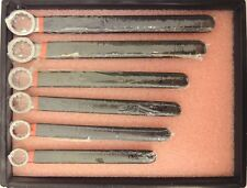 "Cementex double insulated set of 6 box wrenches 1-1/8"" - 13/16"" R4"