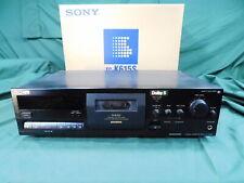 Vintage SONY STEREO CASSETTE DECK No TC-K615S 3 Head Dolby S w/Original Box