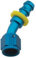 FRAGOLA Hose Fitting #6 30 Deg Push Lock P/N - 203006