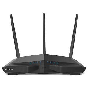 Tenda AC18 wireless router Dual-band (2.4 GHz / 5 GHz) Gigabit Ethernet Black