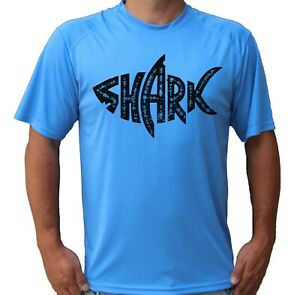 Shark Water Sport Beach Short Sleeve UPF 50 T-Shirt Fishing Sun UV Protection