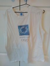 RARE Athens [AOHNA] 2004 Olympic Souvenir Tank Top L 100 % cotton made in Greece