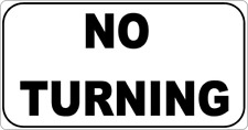 """11 x 6""""  NO TURNING -  METAL SIGN - PRIVATE LANE DRIVE ENTRANCE  PARKING   222"""