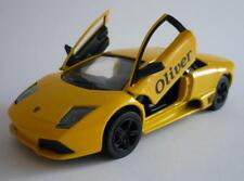 PERSONALISED NAME Yellow Lamborghini Boy Toy Dad Model Car Birthday Present Gift