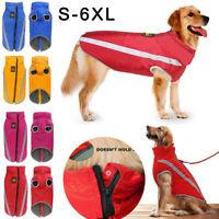 Waterproof Pet Dogs Clothes Autumn Winter Warm Padded Coat Vest Jacket Apparel