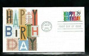 2006 Sc #4079 39c Happy Birthday Fleetwood cachet  FDC