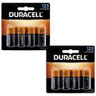 (2 X 4) 8 Pack Duracell Ultra Lithium CR123A CR17345 EL123 3V Batteries EXP:2030