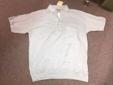 Vintage Hartog Hipster Blue Pullover Button Down Shirt 1980's Large