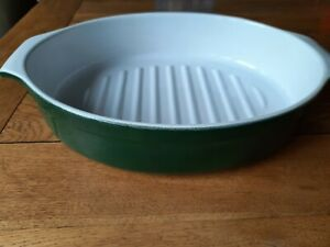 Emile Henry Casserole Dish 39cm French Green White Oval