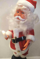 "Rare Vintage Animated 15"" Santa Claus  Motion Christmas Battery Op TIny Hands"