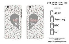 Leopard Print Best Friend White Phone Cases - iphone, Galaxy S, NOTE 4, M8, G3