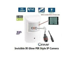 1080P 2MP HD IP PoE Hidden/Spy Security Camera With Built-In MICROPHONE