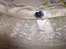Giarrettiera Intimissimi bianca con rosellina blu con strass tg. unica