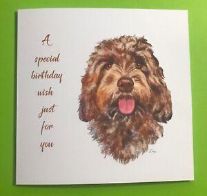 Beautiful Cockerpoo Birthday Card
