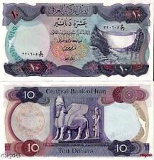 1973  Iraq 10 Dinar Pre- Saddam Hussein Banknote P-65 Currency Iraqi money UNC