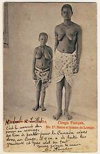 Congo BUSTY WOMAN OF SHORT STATURE KLEINWÜCHSIGE Loango * Vintage Ethnic Nude PC