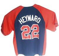 Jason Heyward Atlanta Braves Jersey Adult L Embroidered #22 MLB Genuine Merch