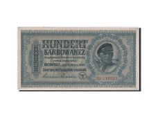 Billets, Ukraine, Occupation allemande, 100 Karbowanez 1942, Pick 55 #42753