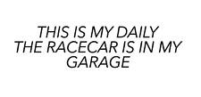 """Voiture de course autocollant beaux jours Drifting Voiture Autocollant construire Garage Boîte à outils"""" 200 mm"""