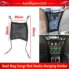 Black Mesh Cargo Nylon Net Car Seat Truck Storage Luggage Organizer Holder Hooks