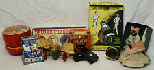 LOT OF 8 ASSORTED MID CENTURY COLLECTIBLES, TOYS, GAMES & DIME REGISTER BANK