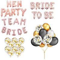 Team Bride To Be Hen Party Foil Rose Gold Confetti Letter Balloon Helium Wedding