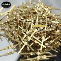 500PCS chandelier lamp parts crystal bead metal connector golden bowtie pin