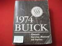 1974 FACTORY ISSUED BUICK CHASSIS SERVICE MANUAL ALL MODELS ALL SERIES