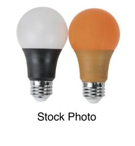 Two Pack 3W  7W LED UV Black & Orange Light Bulbs For Party Club Dorm 40 Watt