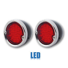 54-59 Chevy Stepside P/U Truck LED Tail LIght Lens & Black Housing Assembly Pair