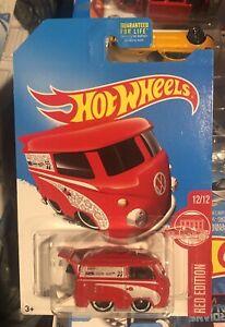 Hot Wheels 2015 Red Edition Volkswagen Kool Kombi Target Mooneyes
