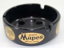 Rare Vintage Mapes Motor Hotel Advertising Ashtray - Reno, Nevada - Lot #2