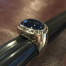 Barse 925 Sterling Silver Blue Onyx Ring Size 8