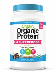 Orgain Gluten Free Plant Based Protein & Superfoods Powder 2lb Chocolate Fudge