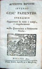 1810 – AFFETTI INVERSO GESÙ PAZIENTISSIMO – CHIESA CATTOLICA ESERCIZI SPIRITUALI